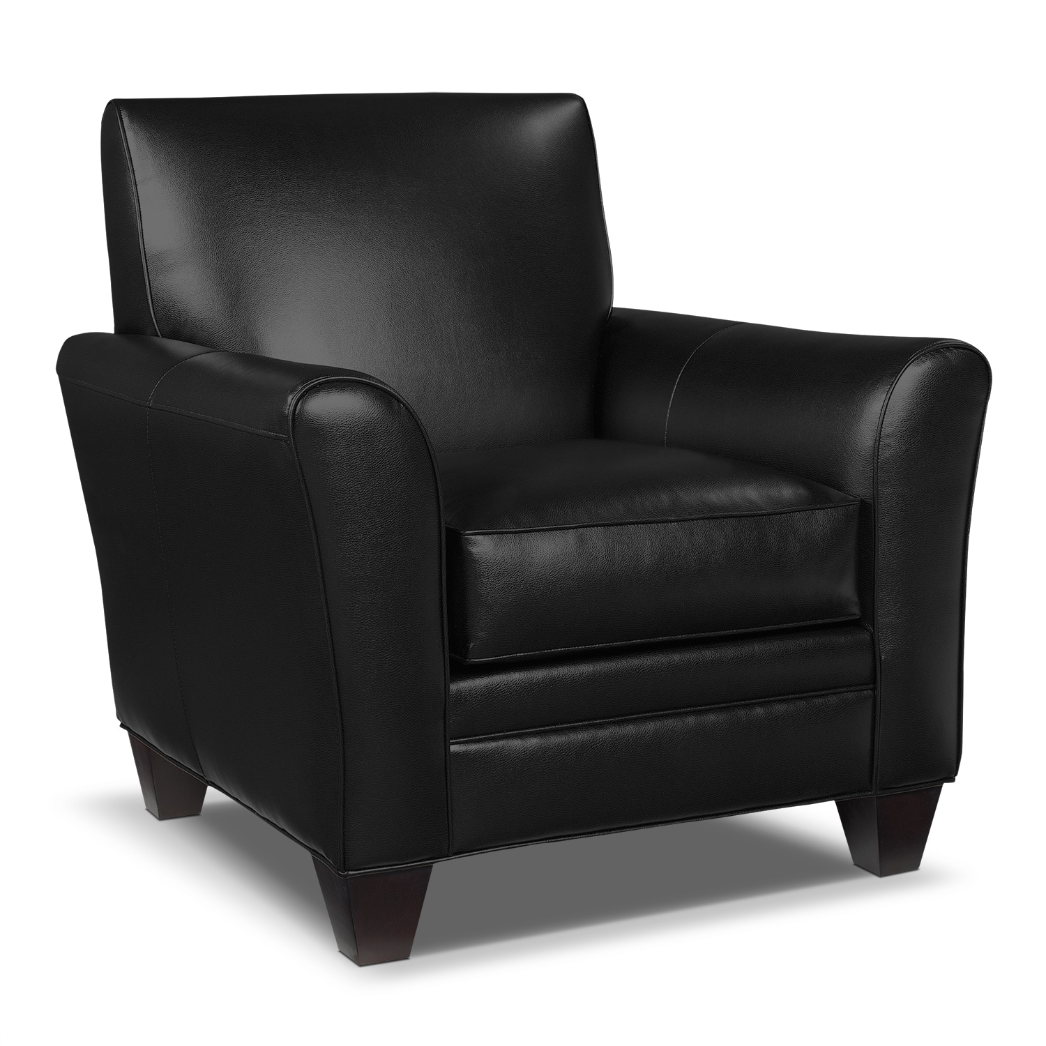 Icon Accent Chair - Black  sc 1 st  Value City Furniture & Living Room Chairs u0026 Chaises | Value City Furniture | Value City ...