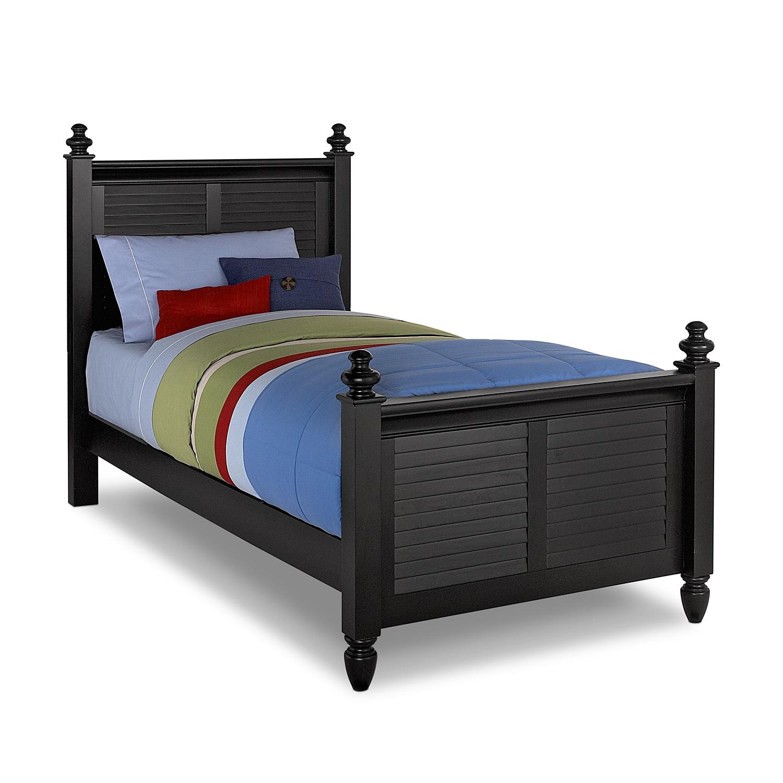 Kids Furniture - Seaside Twin Bed - Black