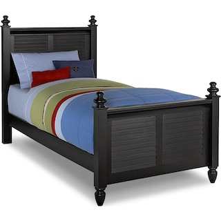 seaside full bed black