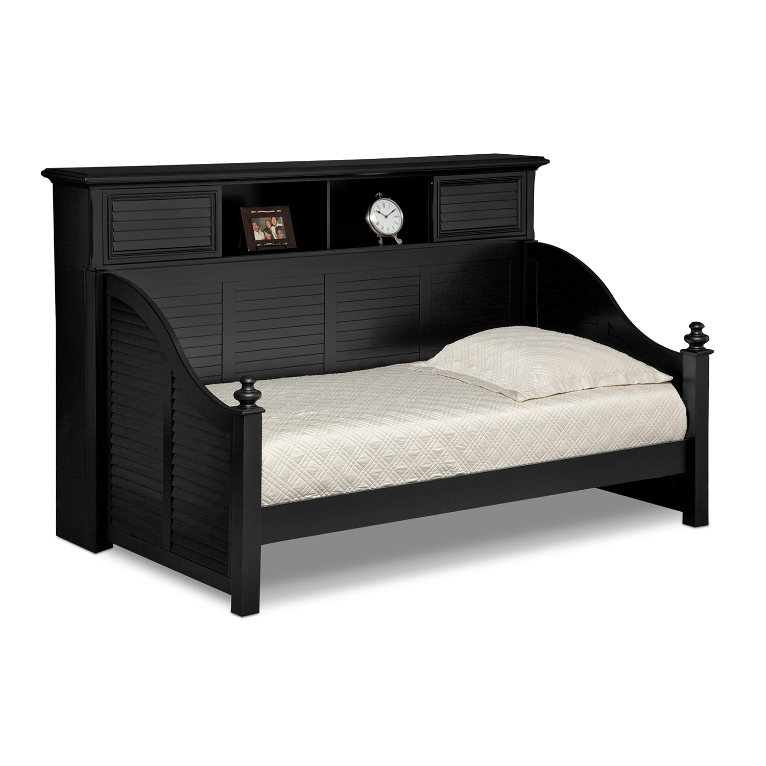 Seaside Bookcase Daybed - Black