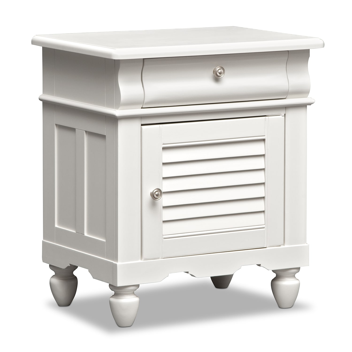 [Seaside White Nightstand]