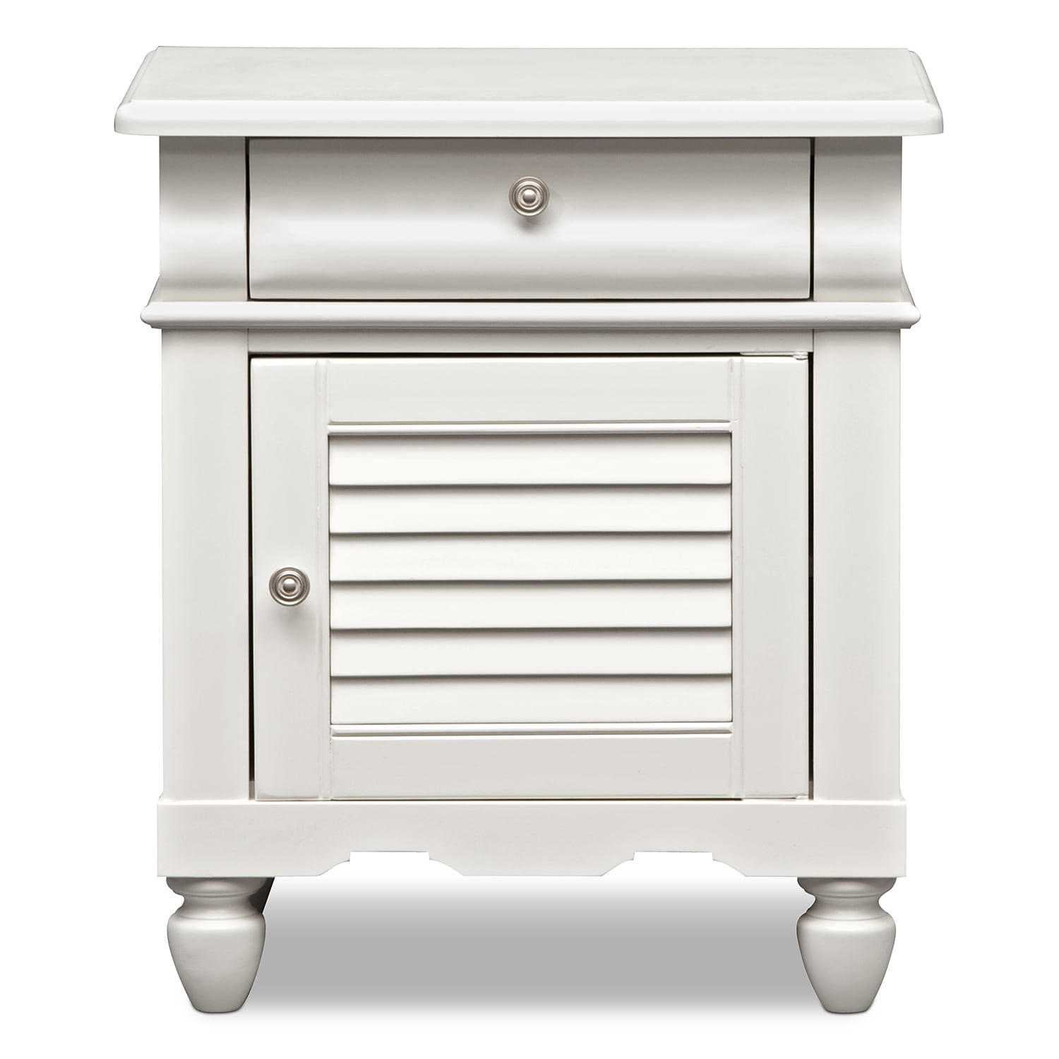 Seaside Nightstand - White | Value City Furniture
