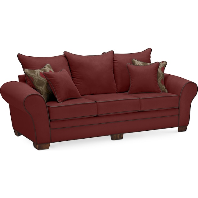 Living Room Furniture - Rendezvous Sofa - Wine