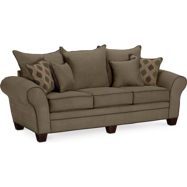 Living Room Furniture - Rendezvous Sofa - Olive