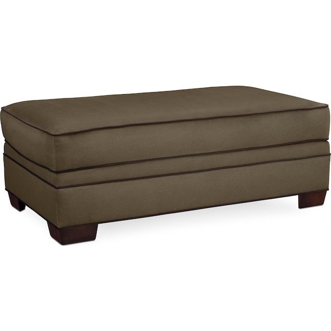 Living Room Furniture - Rendezvous Ottoman - Olive