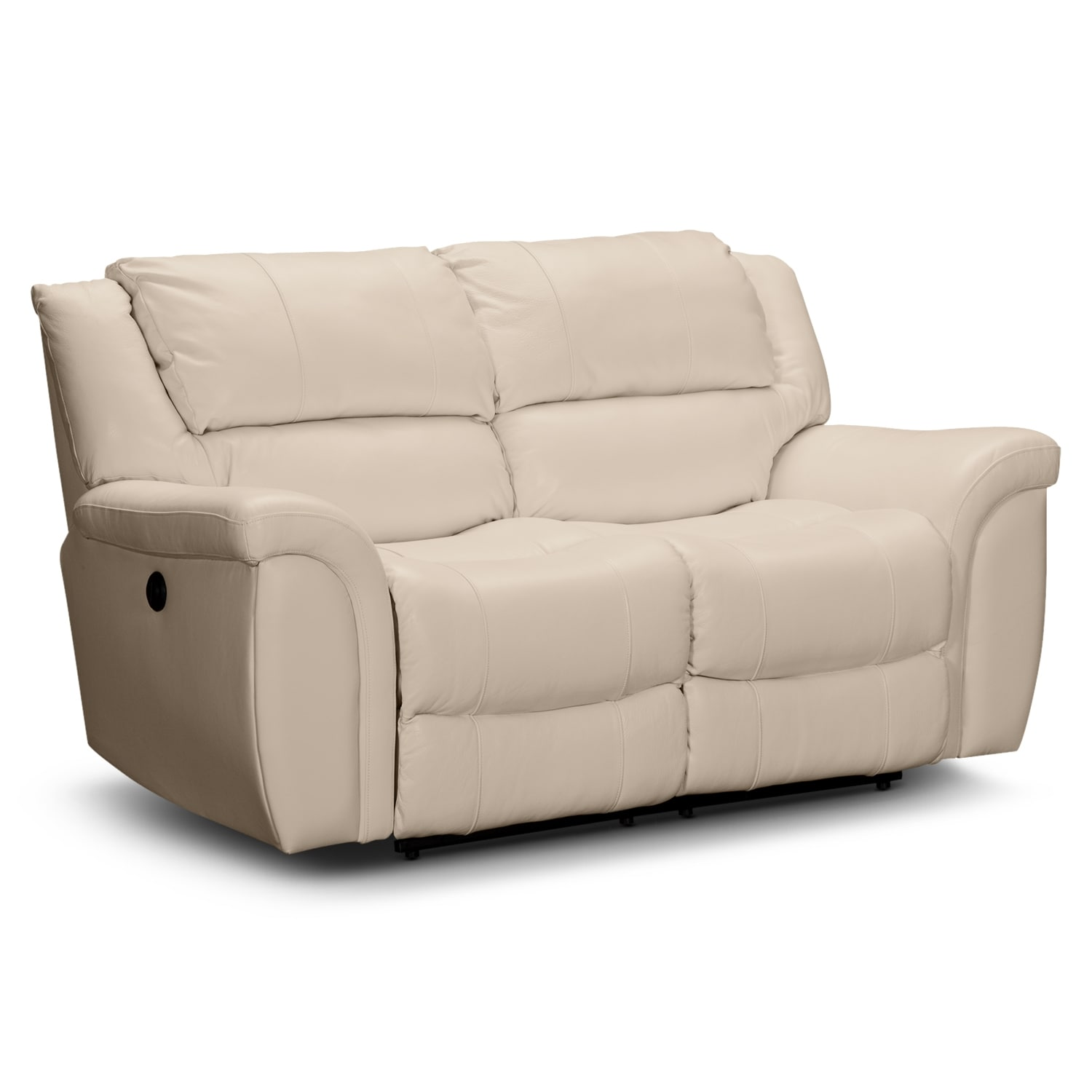 Aquarius Dual Power Reclining Loveseat
