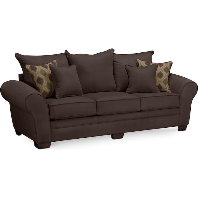 Living Room Furniture - Rendezvous Sofa - Chocolate
