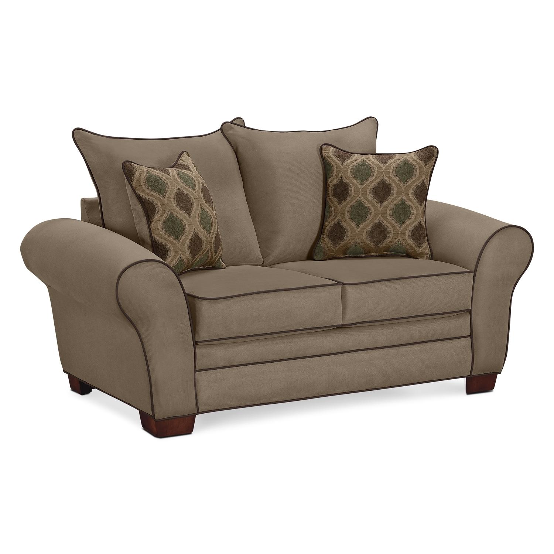 Living Room Furniture - Rendezvous Loveseat - Tan