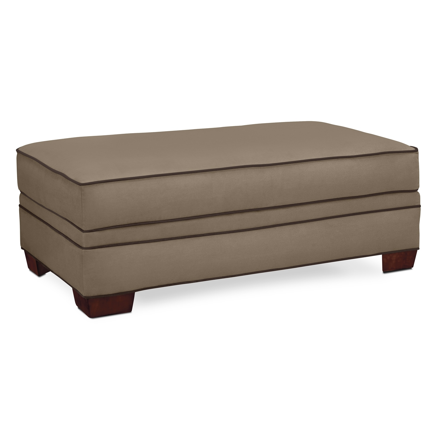 Living Room Furniture - Rendezvous Ottoman - Tan