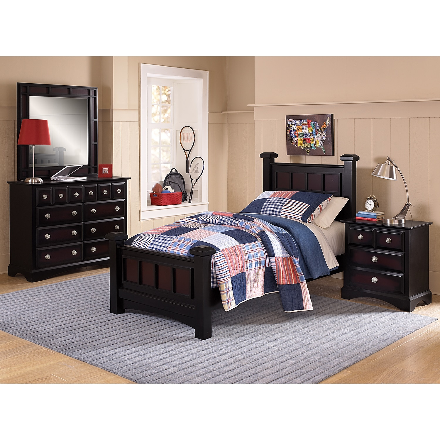 Winchester Full Bed Ebony Value City Furniture And