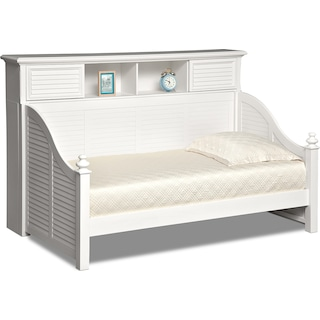 Seaside Twin Bookcase Daybed - White