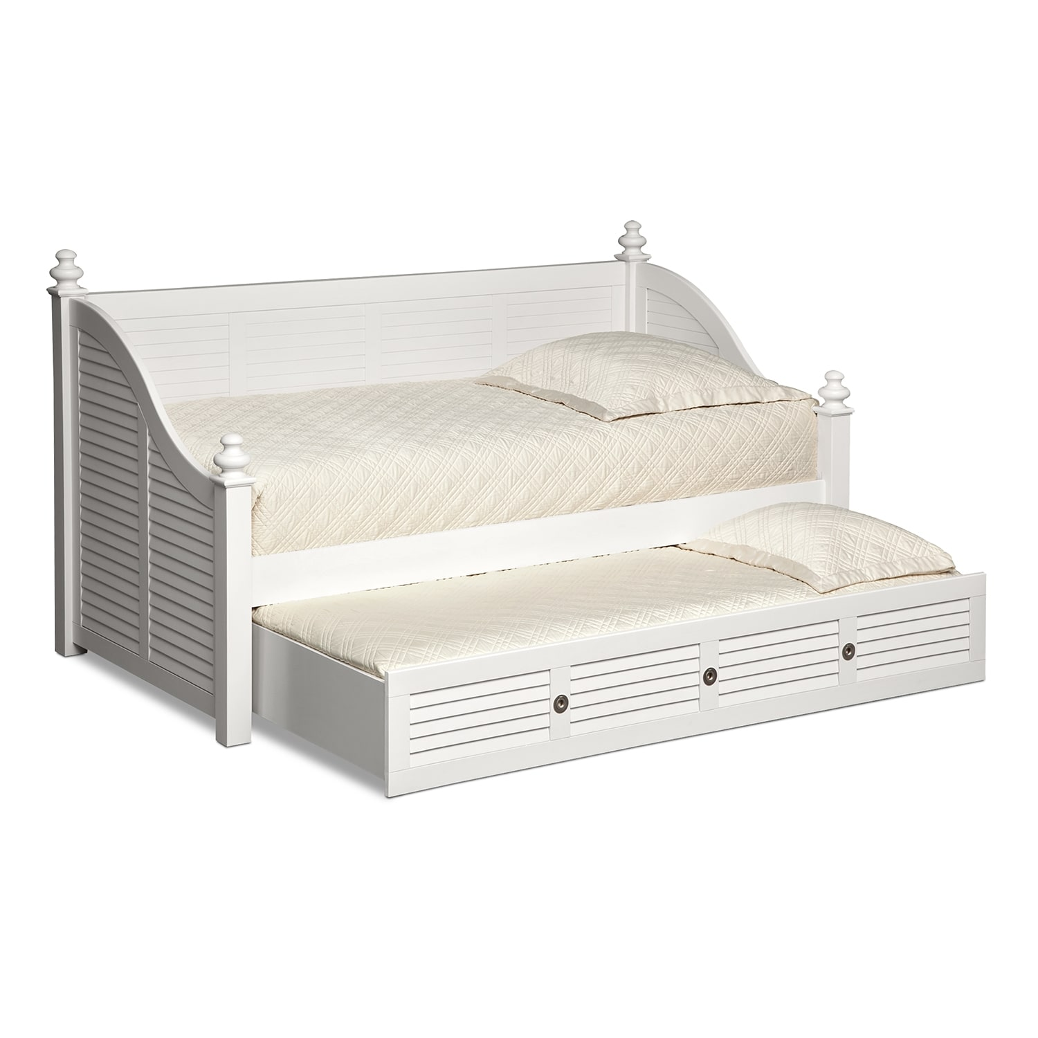 Seaside Twin Daybed with Trundle - White