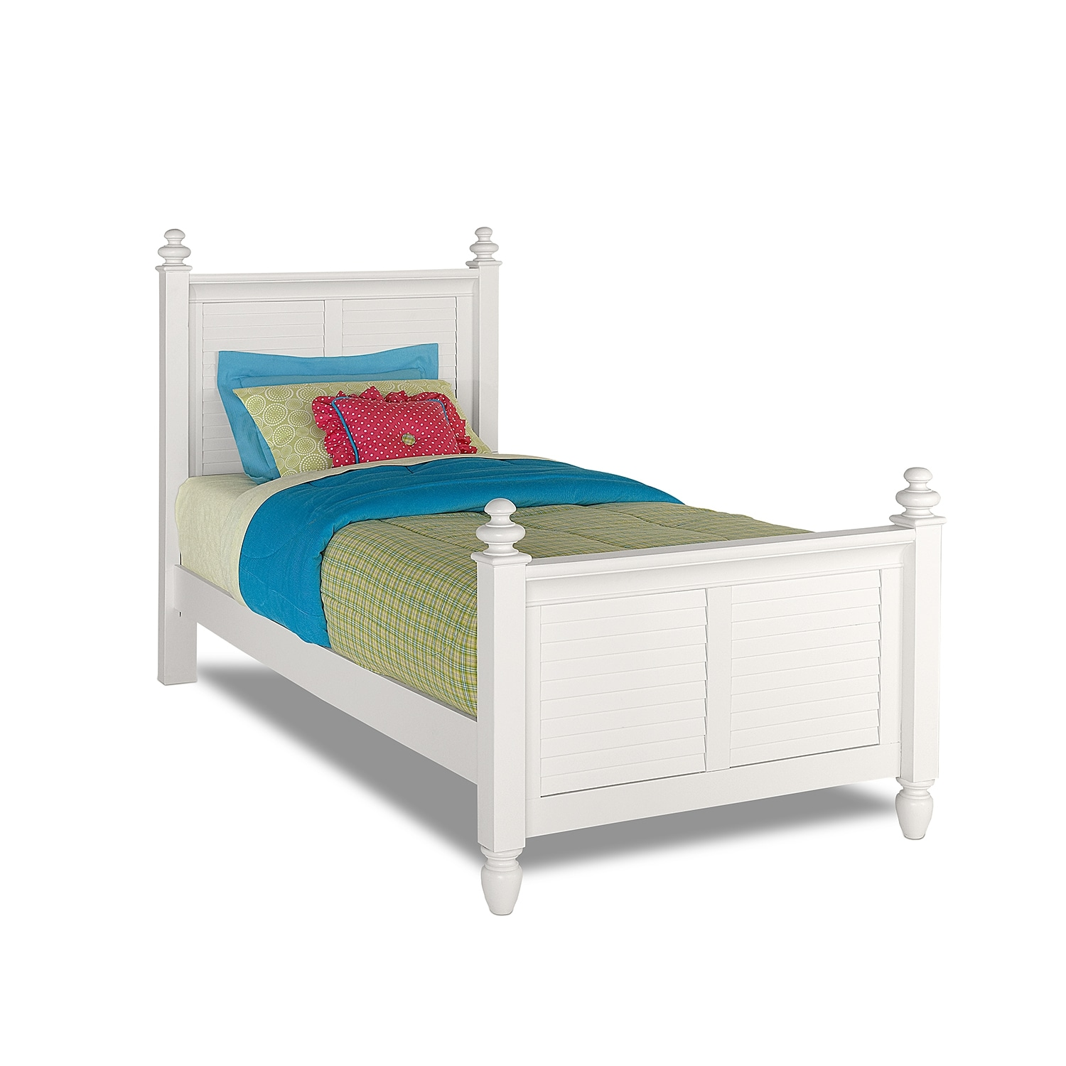 Seaside Twin Bed - White