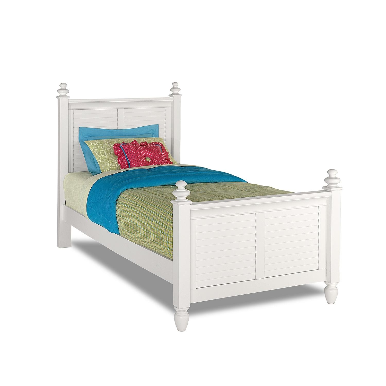 Kids Furniture - Seaside Twin Bed - White