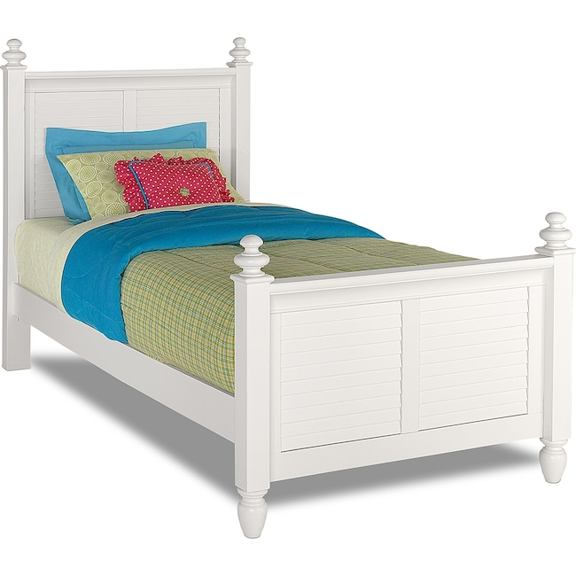 kids furniture seaside twin bed white