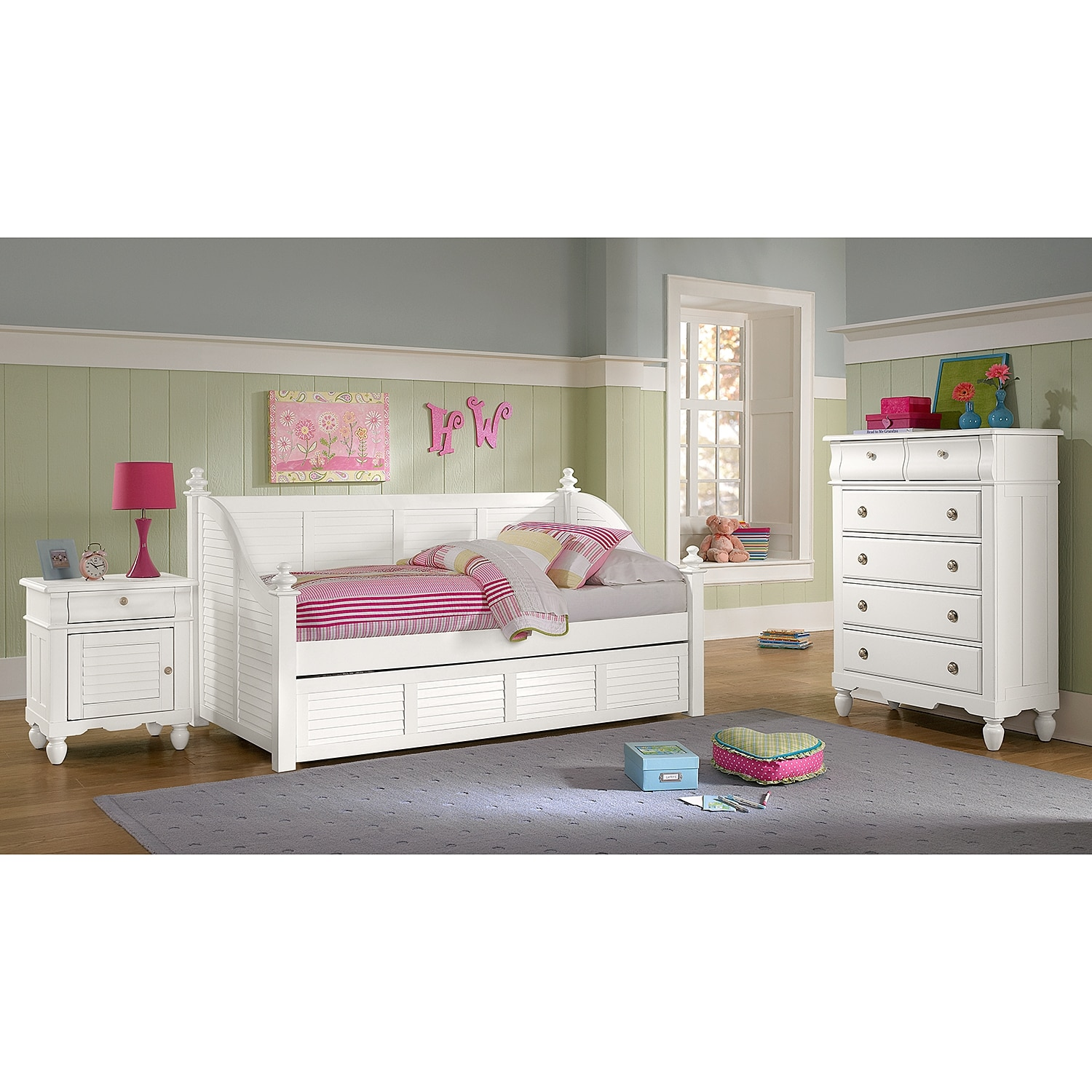 Seaside Bedroom Furniture Seaside Twin Daybed White Value City Furniture