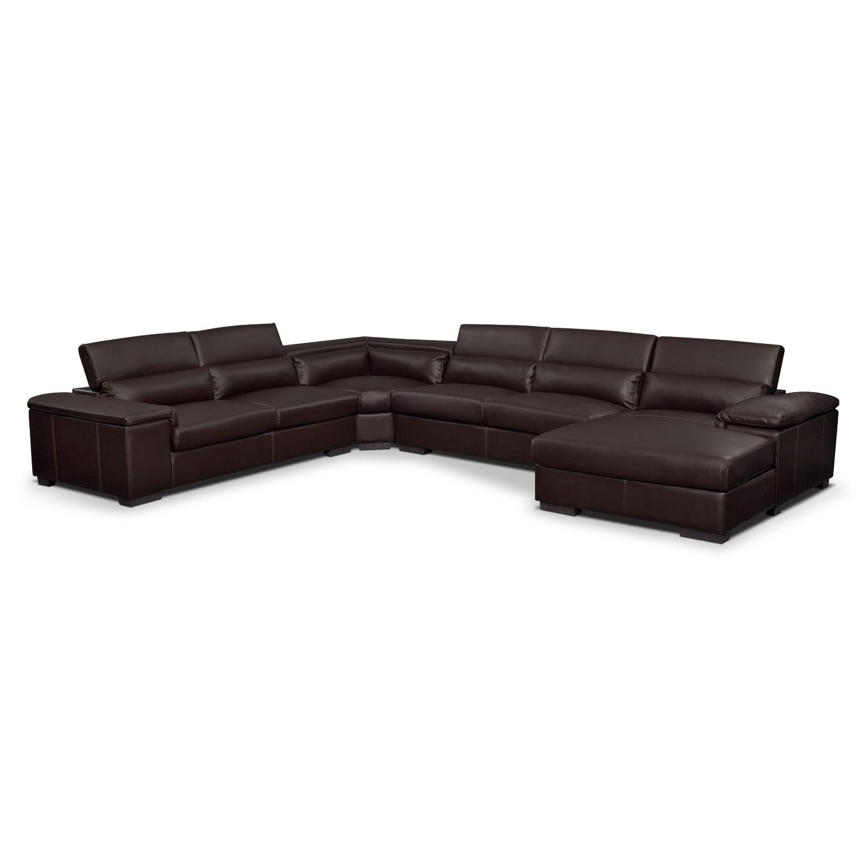 Living Room Furniture - Ventana 4-Piece Right-Facing Sectional - Godiva