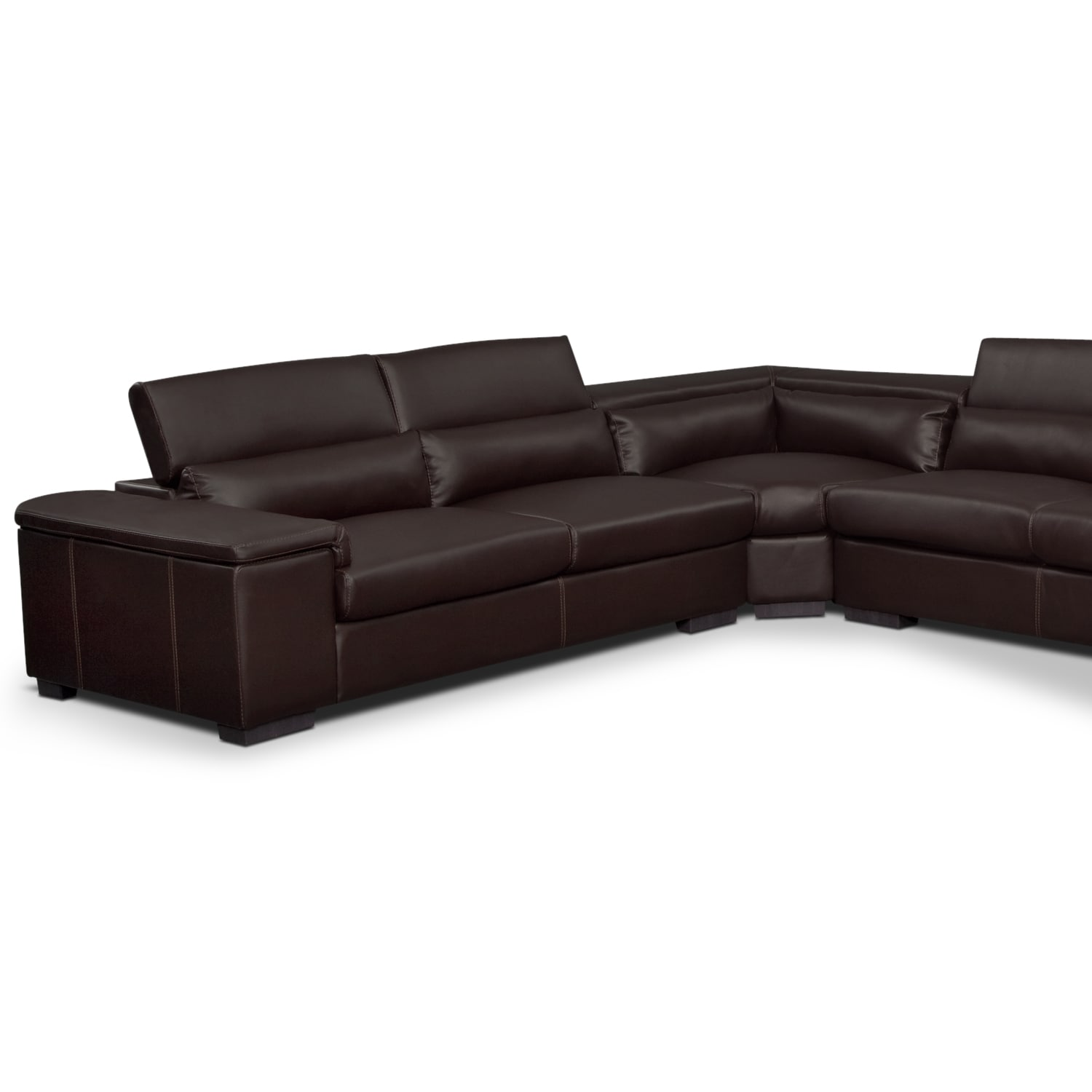 Ventana Ii Leather 4 Pc Sectional Value City Furniture