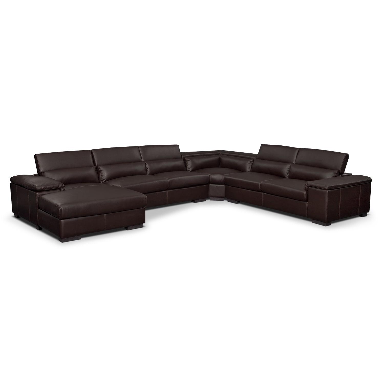 Living Room Furniture - Ventana II 4 Pc. Sectional (Reverse)