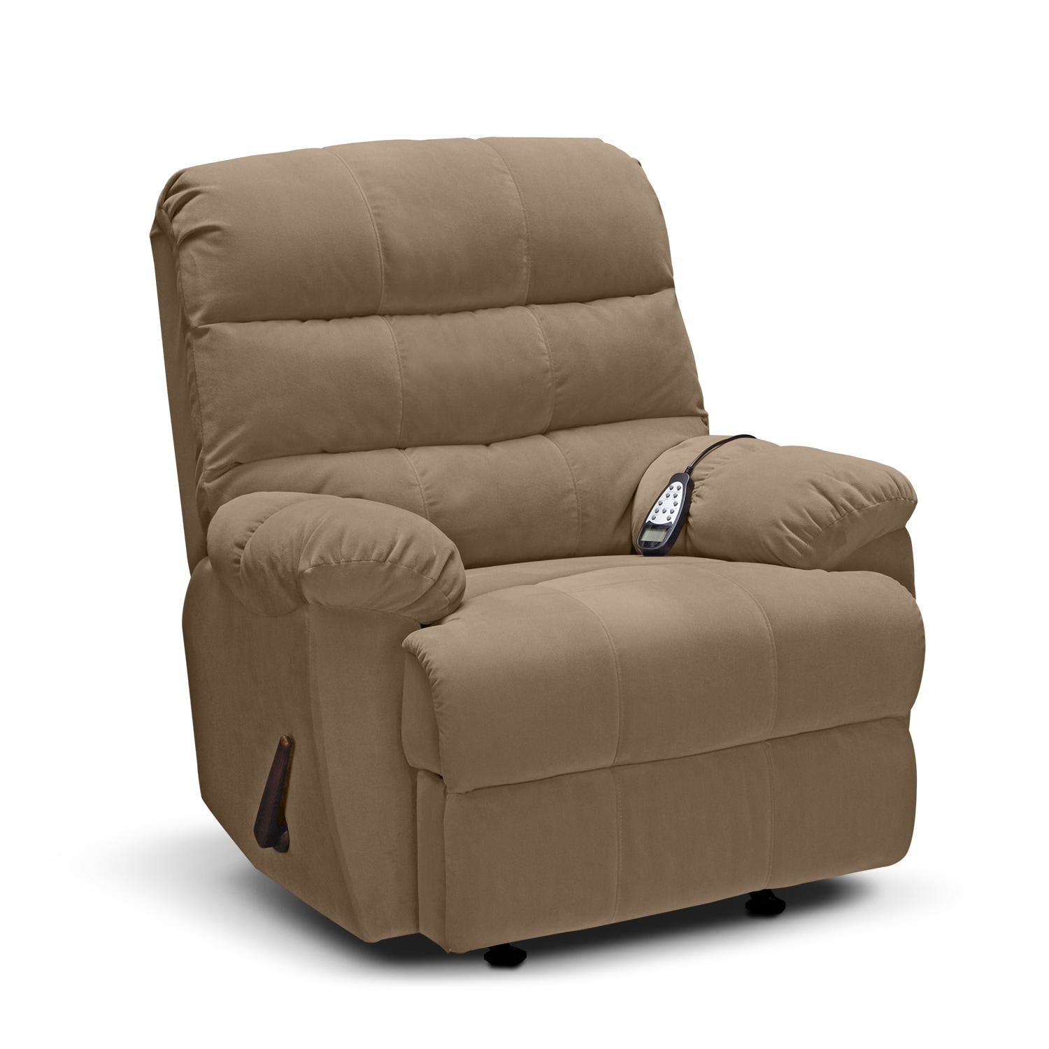 Atlantic Massage Rocker Recliner Camel
