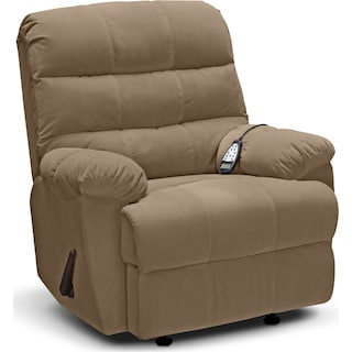 Atlantic Massage Rocker Recliner - Camel
