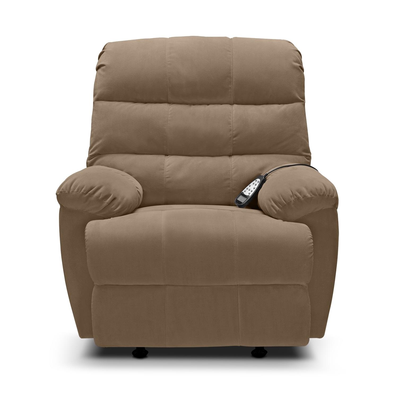 atlantic massage rocker recliner camel value city furniture