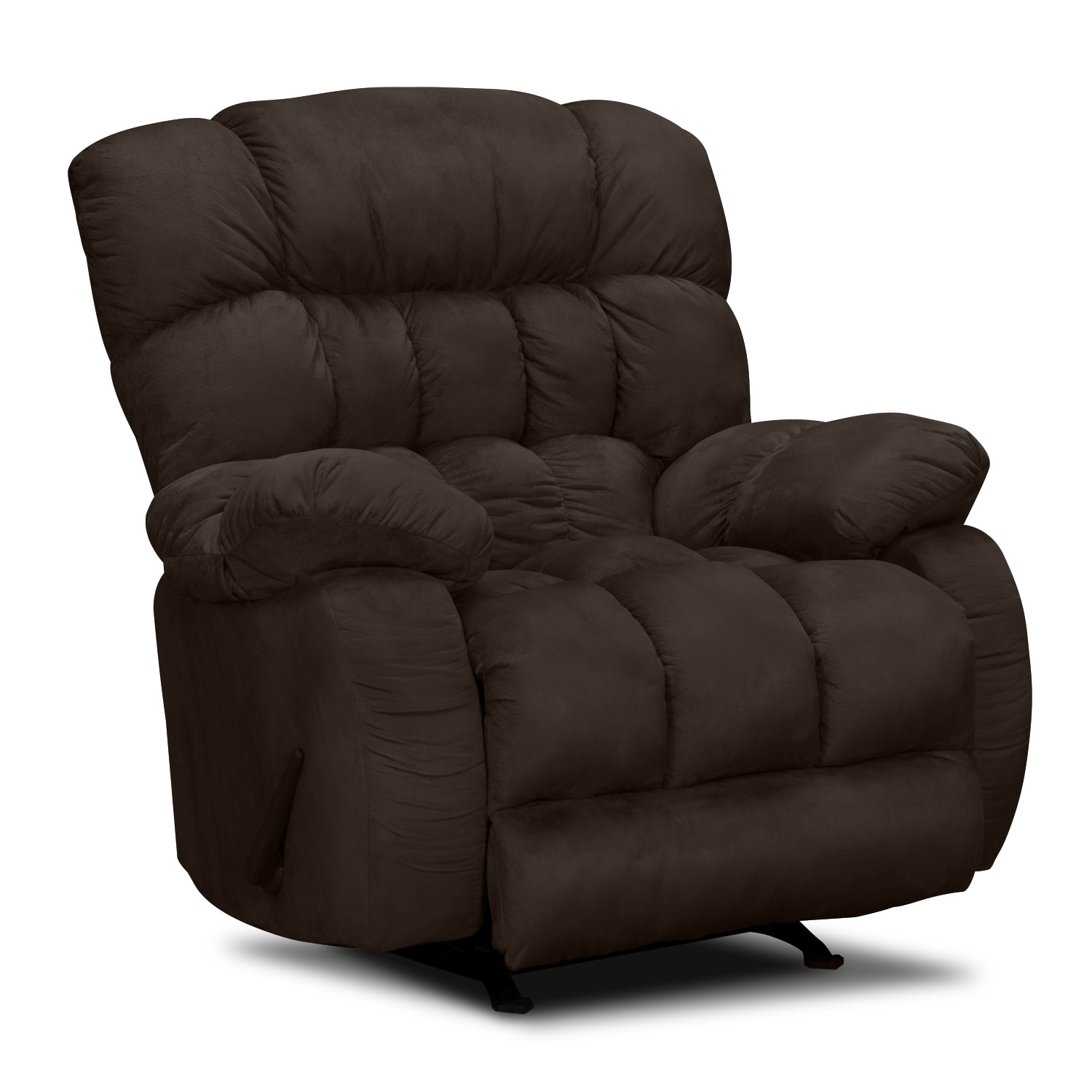 sonic rocker recliner brown value city furniture and