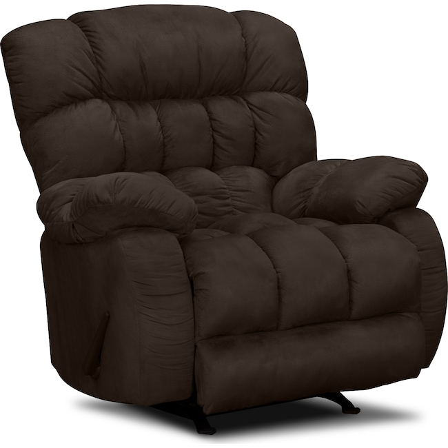 Living Room Furniture - Sonic Rocker Recliner - Brown