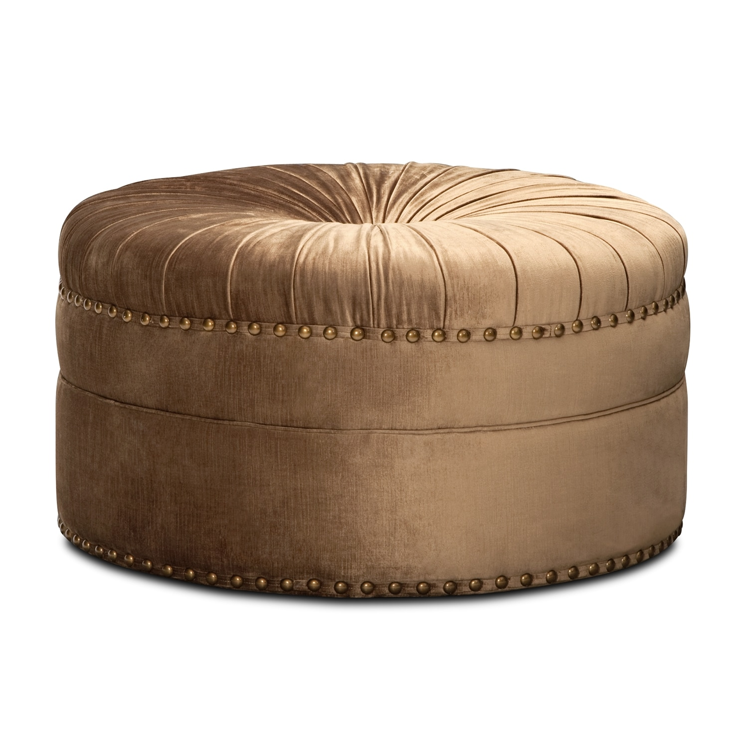 Brittney Cocktail Ottoman - Bronze