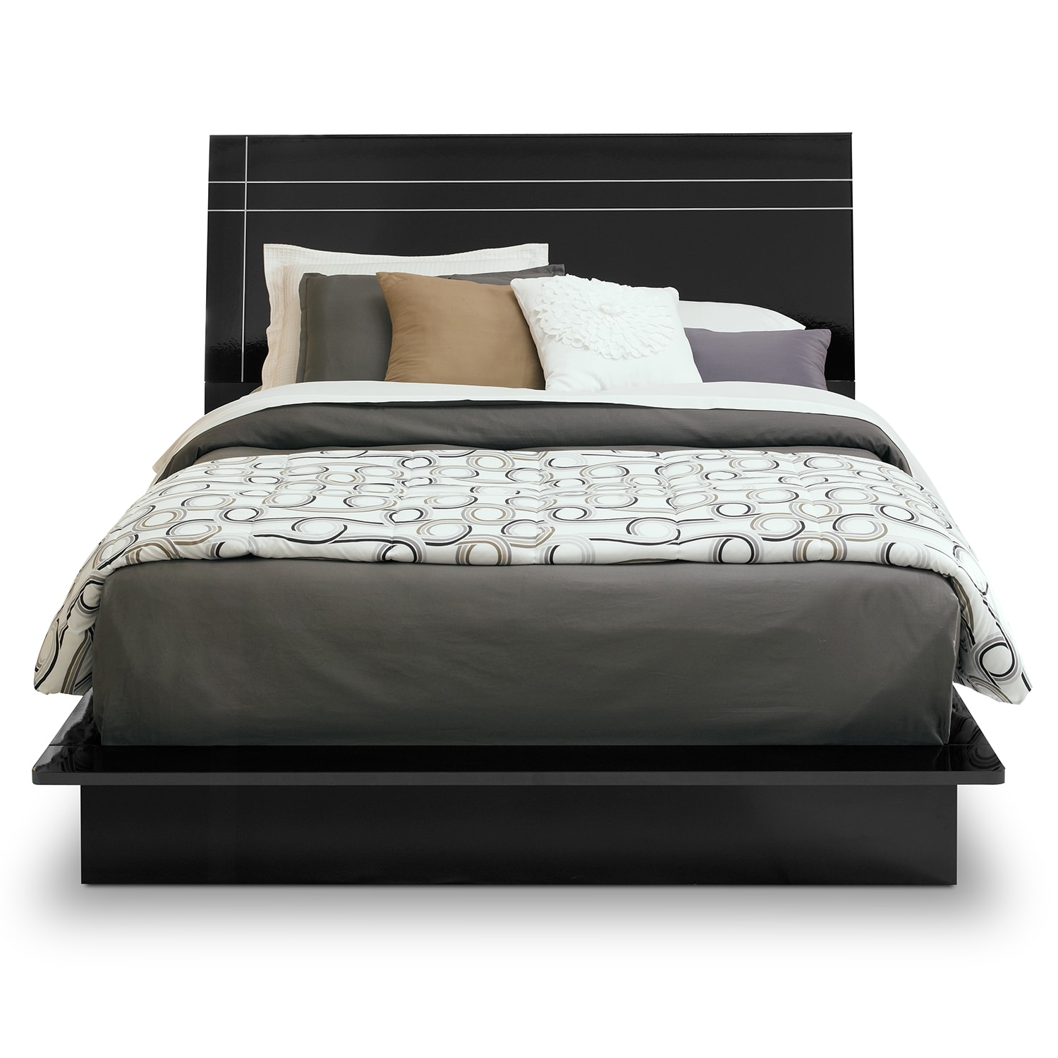 dimora queen panel bed black by factory outlet