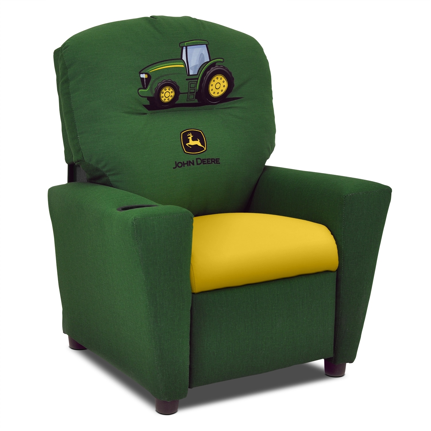 Kids Furniture - John Deere Childu0027s Recliner - Green. Hover to zoom  sc 1 st  Value City Furniture : child recliner chairs - islam-shia.org