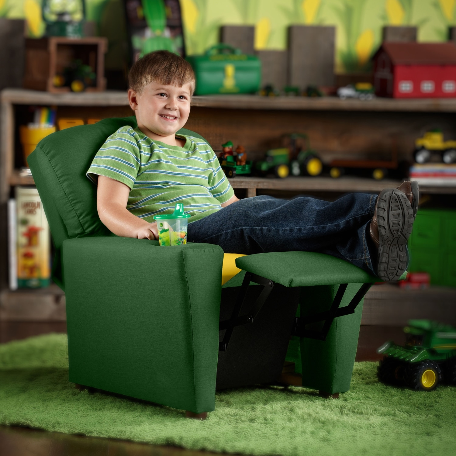 John Deere Child s Recliner Green
