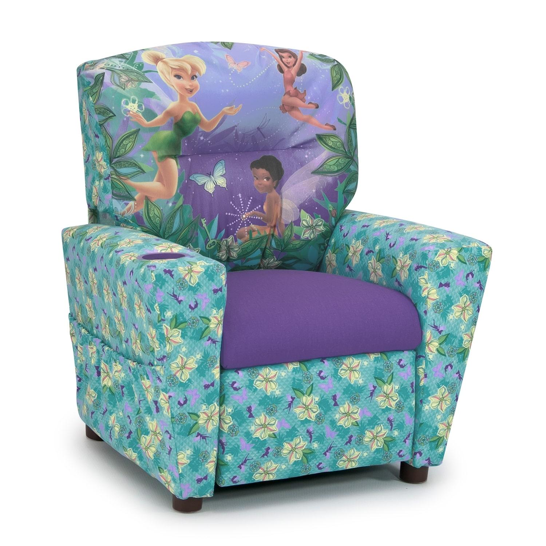 Disney Fairies Child's Recliner - Blue and Purple