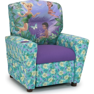 Disney Fairies Child's Recliner - Blue and Purple
