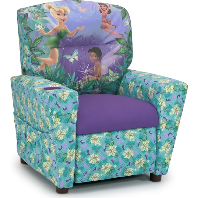 Kids Furniture - Disney Fairies Child's Recliner - Blue and Purple