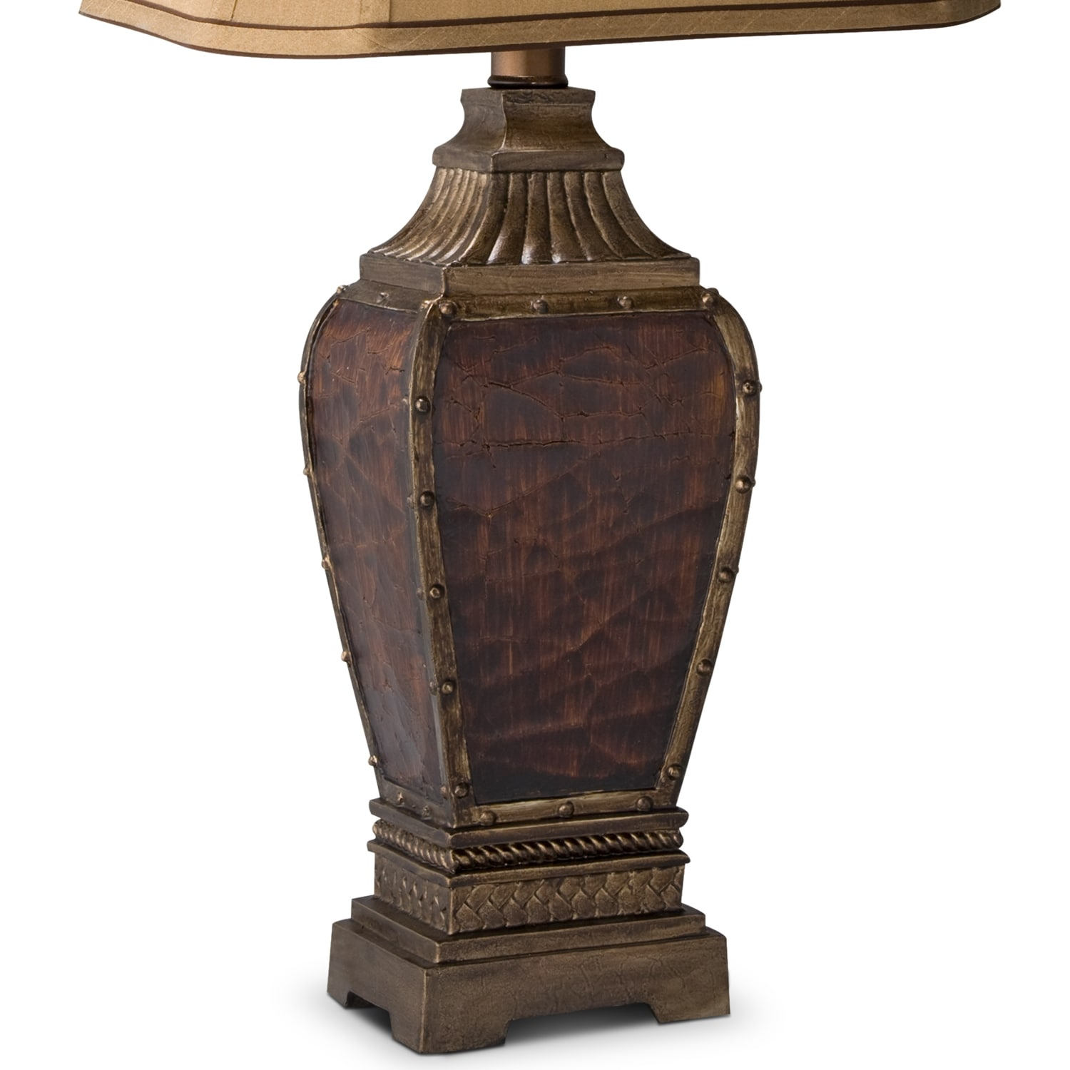 leather nails table lamp value city furniture and mattresses