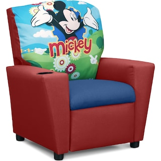 Mickey Mouse Child's Recliner - Red