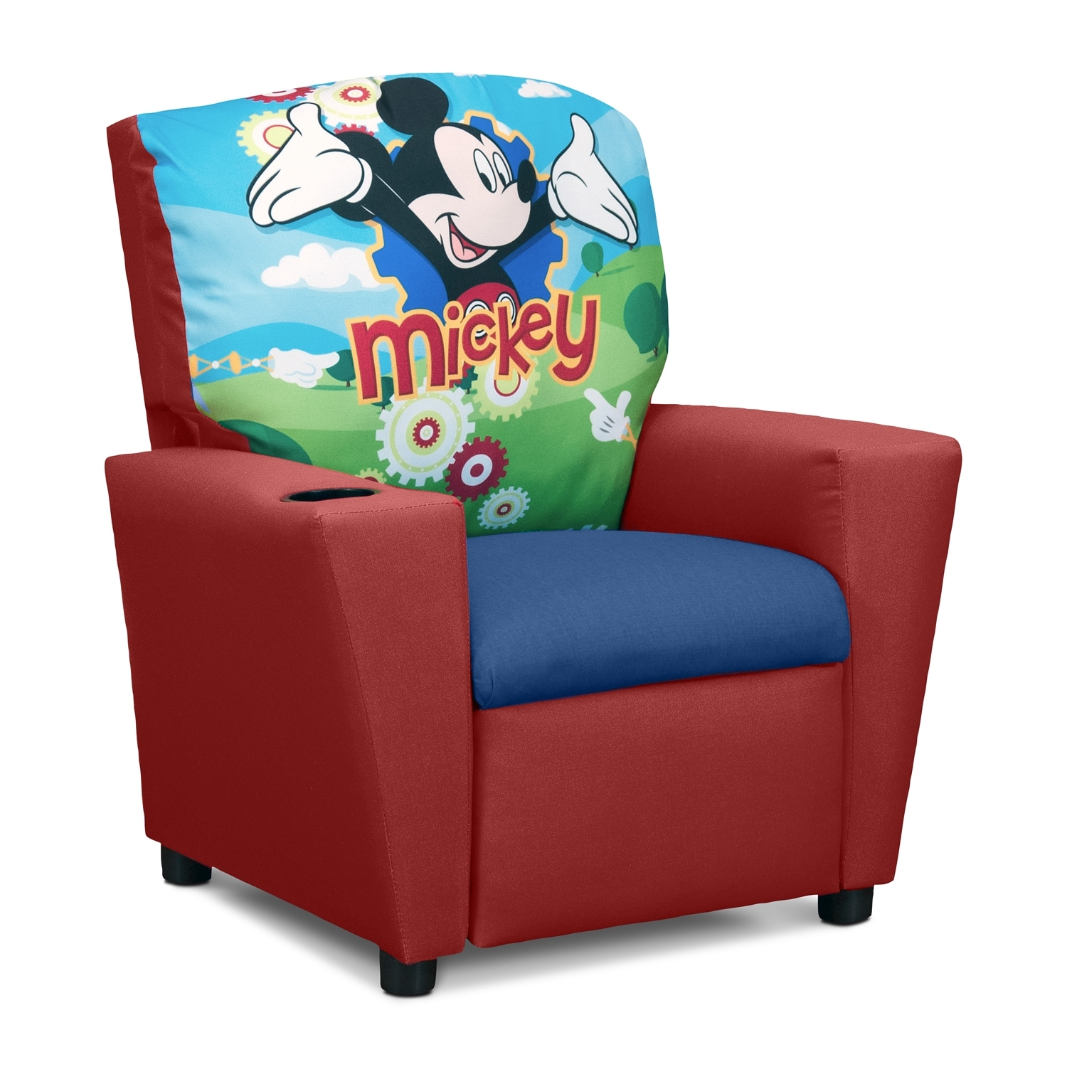 Mickey Mouse Childu0027s Recliner - Red  sc 1 st  Value City Furniture : childs recliners - islam-shia.org