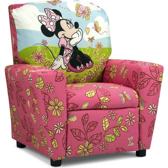 Kids Furniture - Minnie Mouse Child's Recliner - Pink