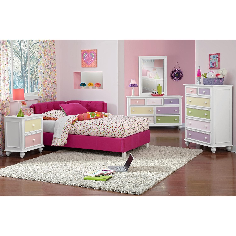 Kids Bedroom Pink jordan full corner bed - pink | value city furniture