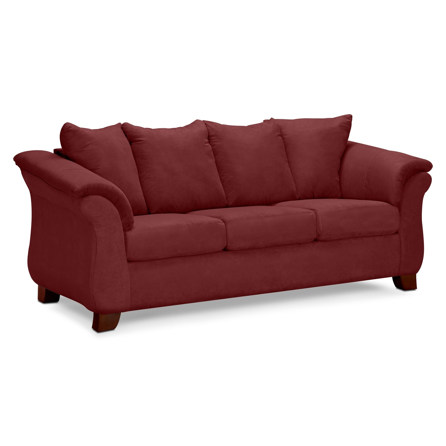 Adrian Sofa and Loveseat Set Red