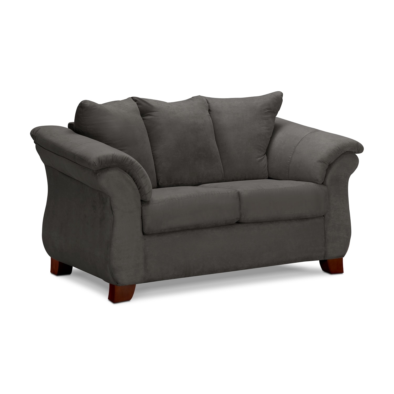 adrian sofa and loveseat set - graphite | value city furniture