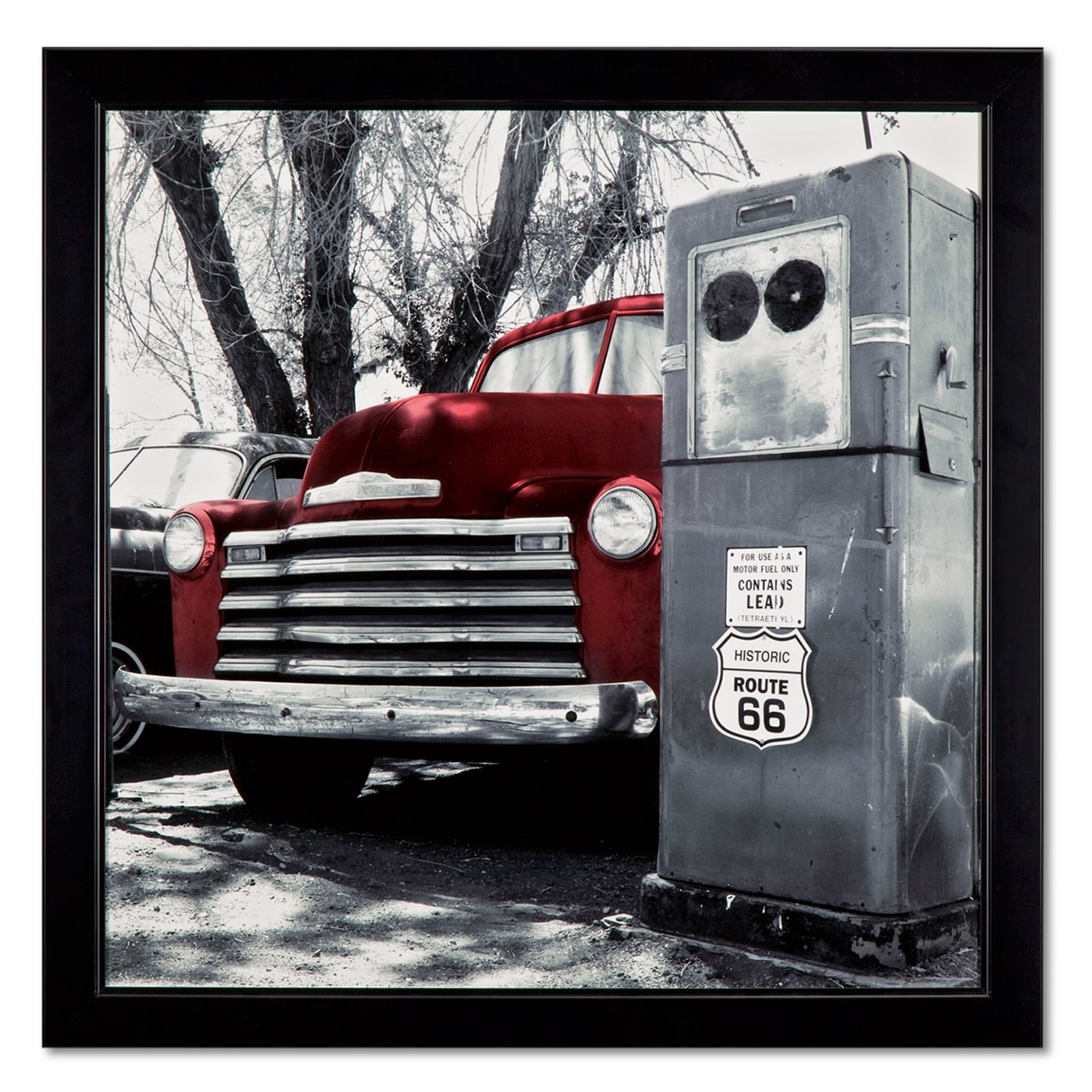 Vintage Red Truck Framed Print