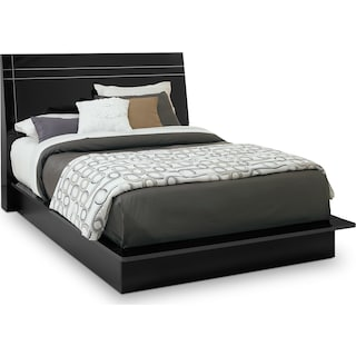 Dimora Queen Panel Bed - Black