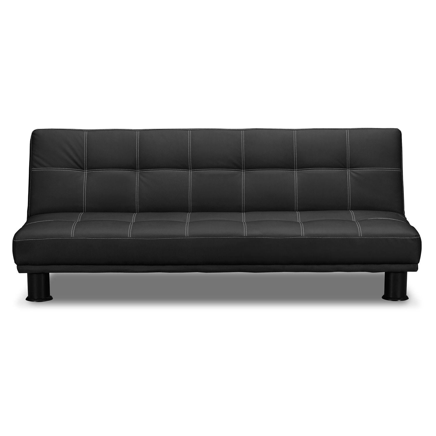 phyllo futon sofa bed - black | value city furniture and mattresses