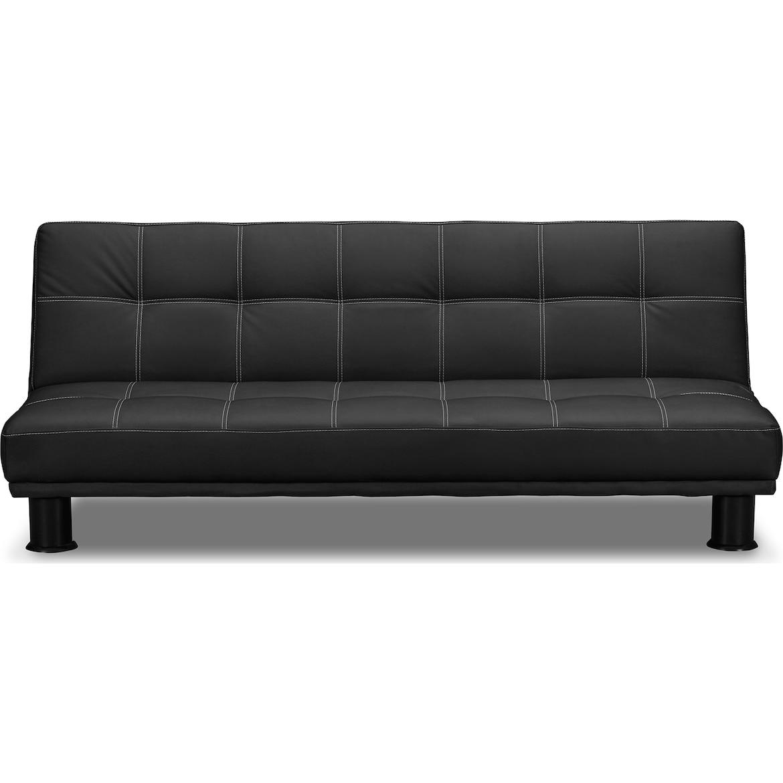 Phyllo Futon Sofa Bed - Black