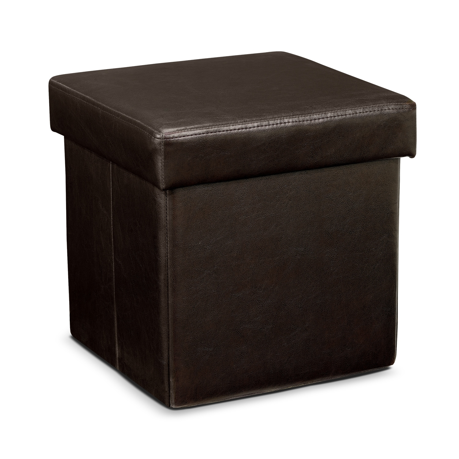 Living Room Furniture - Leigh Folding Cube Ottoman