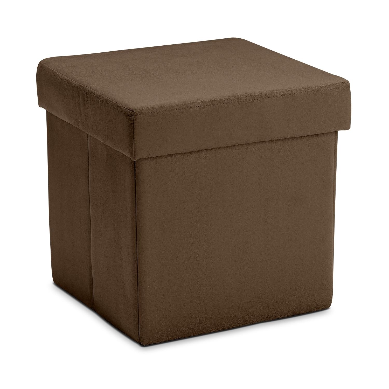 Living Room Furniture - Leigh Folding Cube Ottoman