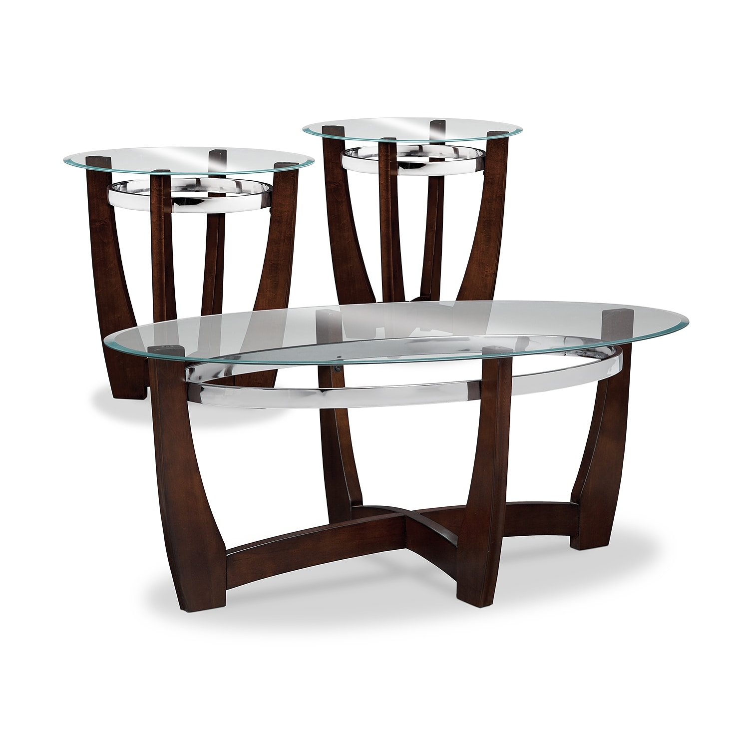 Living Room Sets Value City Furniture alcove cocktail table and 2 end tables - merlot | value city furniture