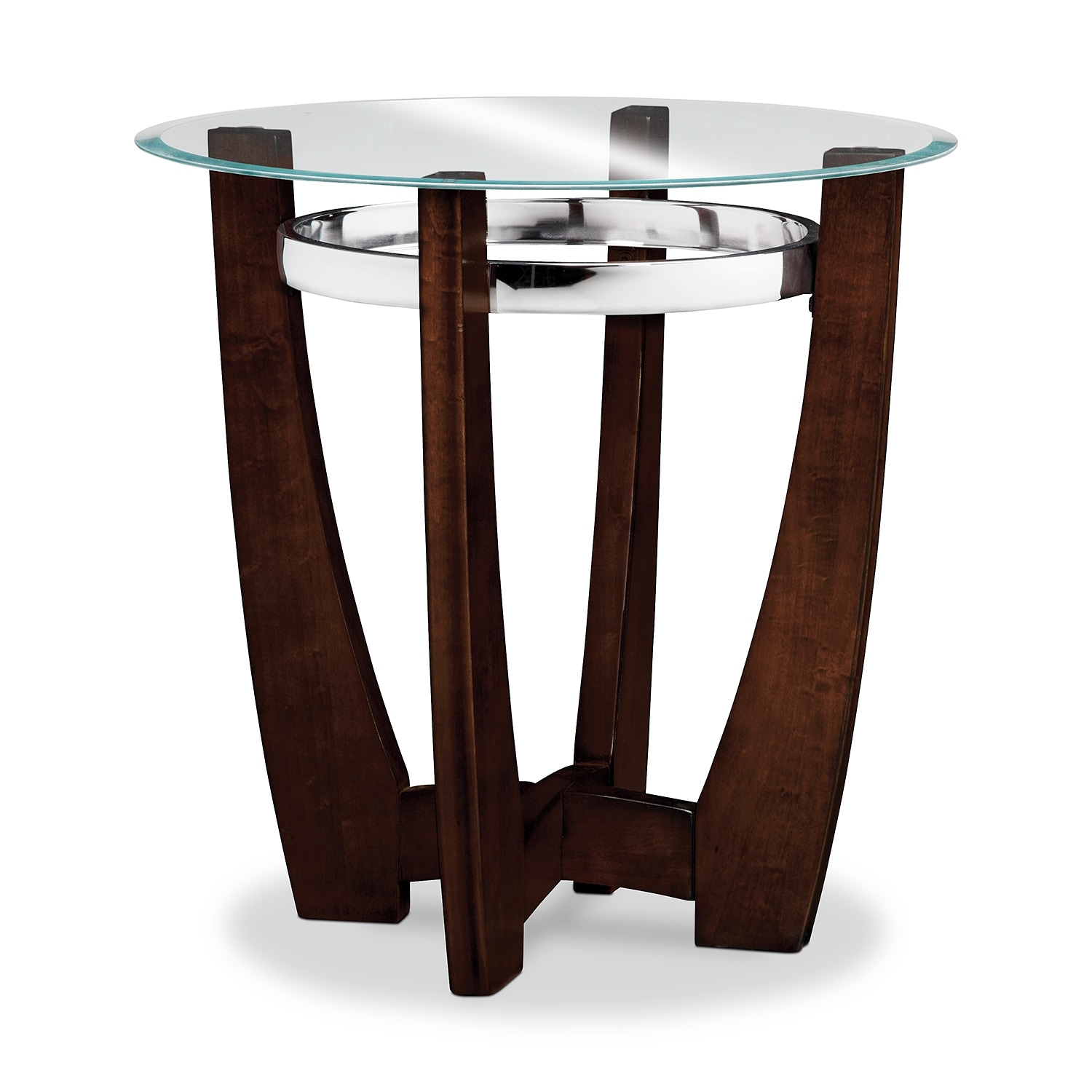Alcove Cocktail Table and 2 End Tables Merlot